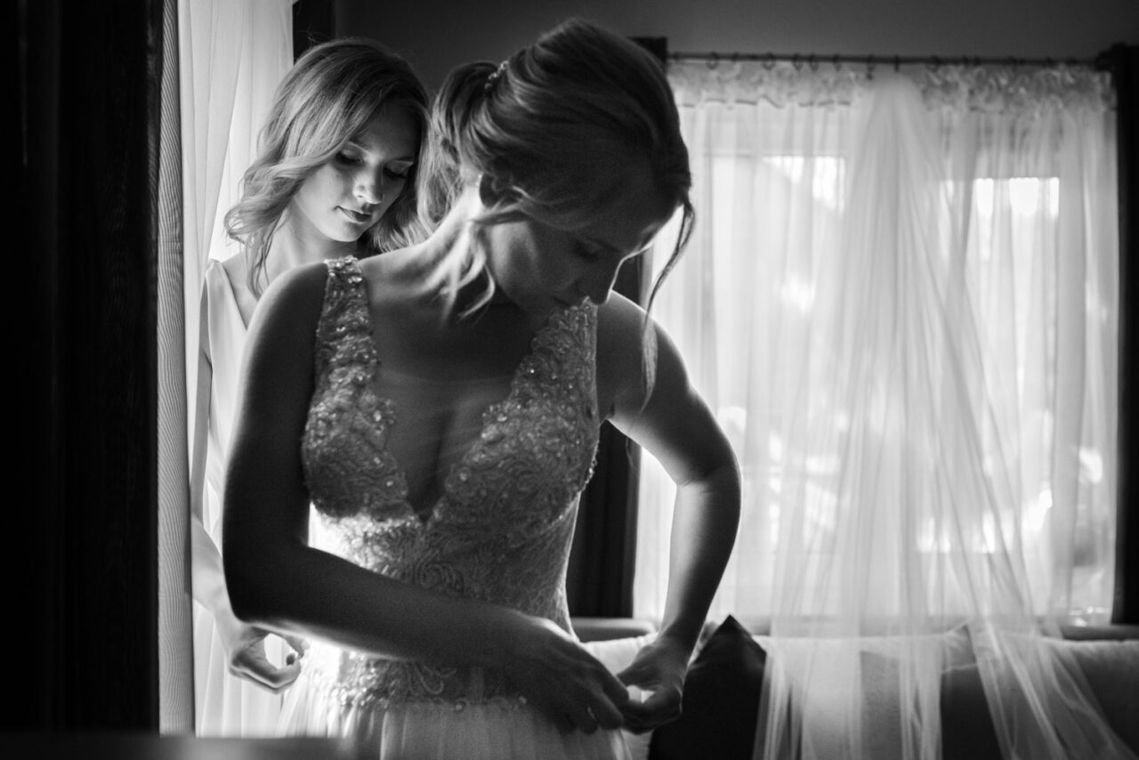 emocjonalny ślub nad Bugiem - przygotowania panny młodej