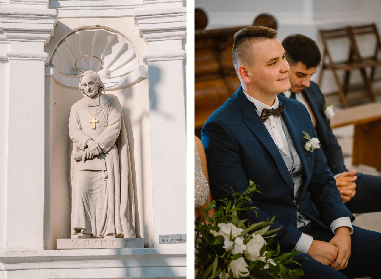 portret pana młodego, drużby i rzeźby z kościoła w Kodniu