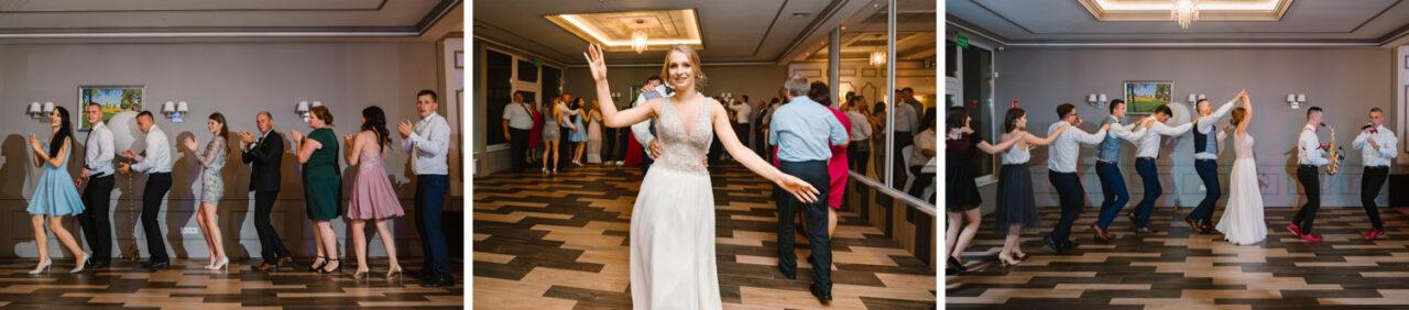 goście weselni podczas zabaw i tańców
