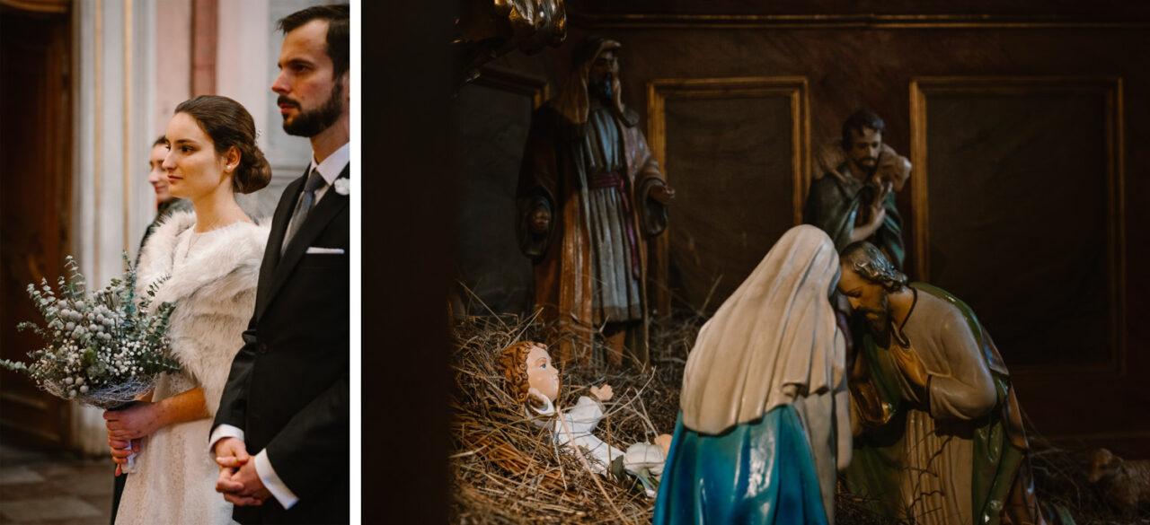 portret pary młodej i figura świętej rodziny w Warszawie