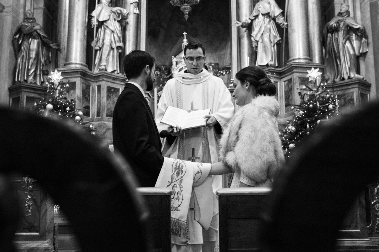 przysięga ślubna młodej pary