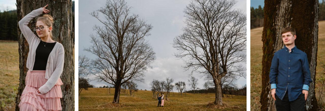 fotograficzna sesja w Bieszczadach - portrety narzeczonych
