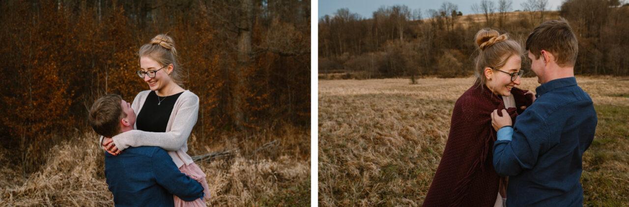 sesja w Bieszczadach - portret narzeczonych
