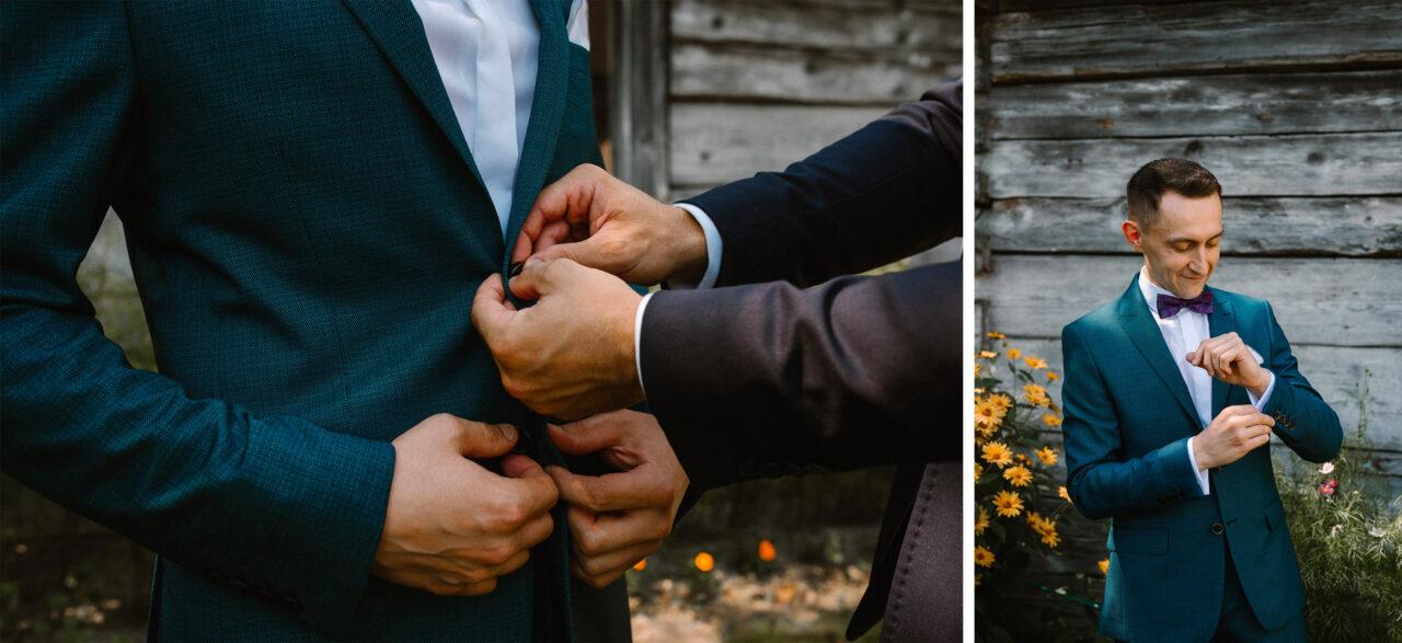 garnitur ślubny pana młodego