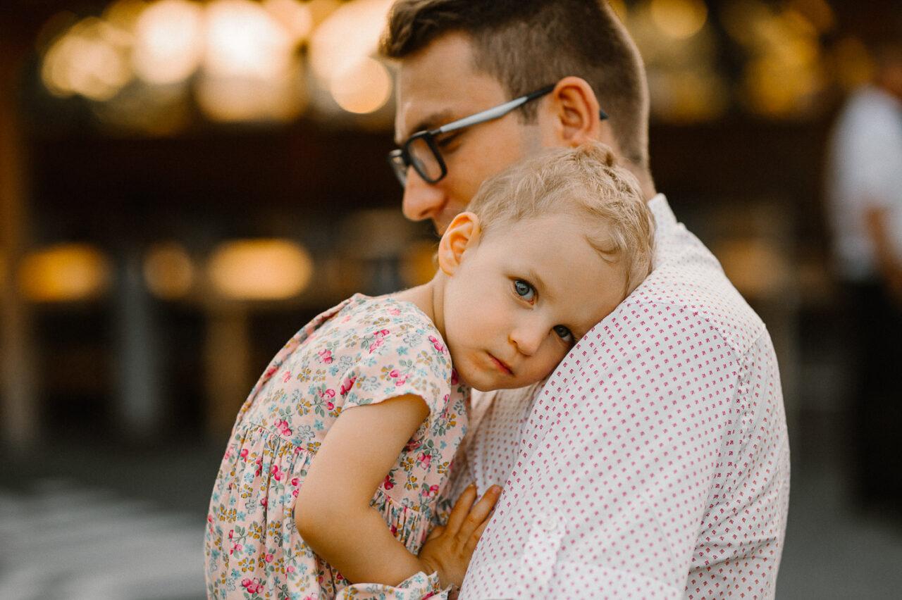 portret ojca z córką