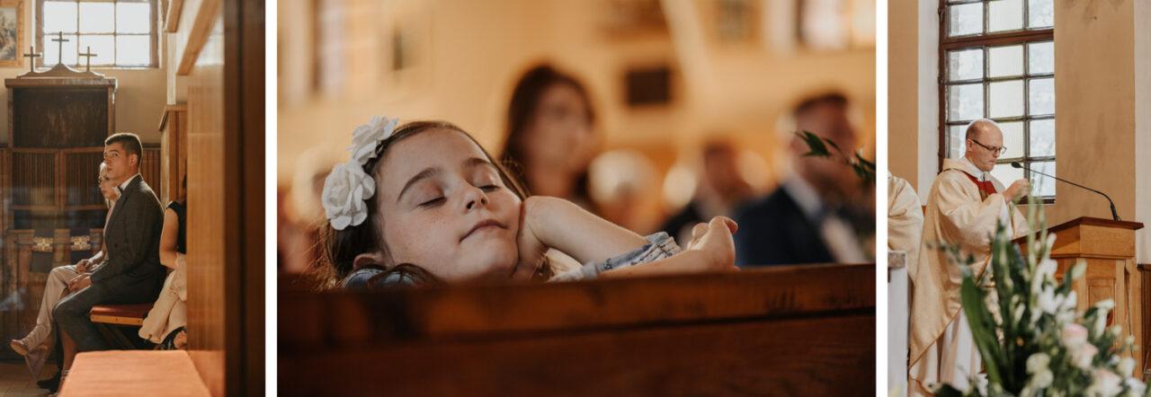 ksiądz i dzieci podczas kazania ślubnego