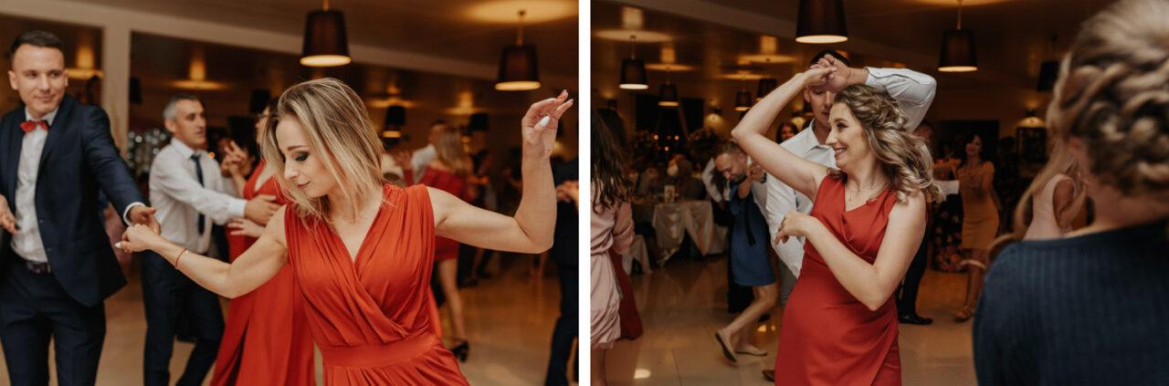 goście tańczący na weselu