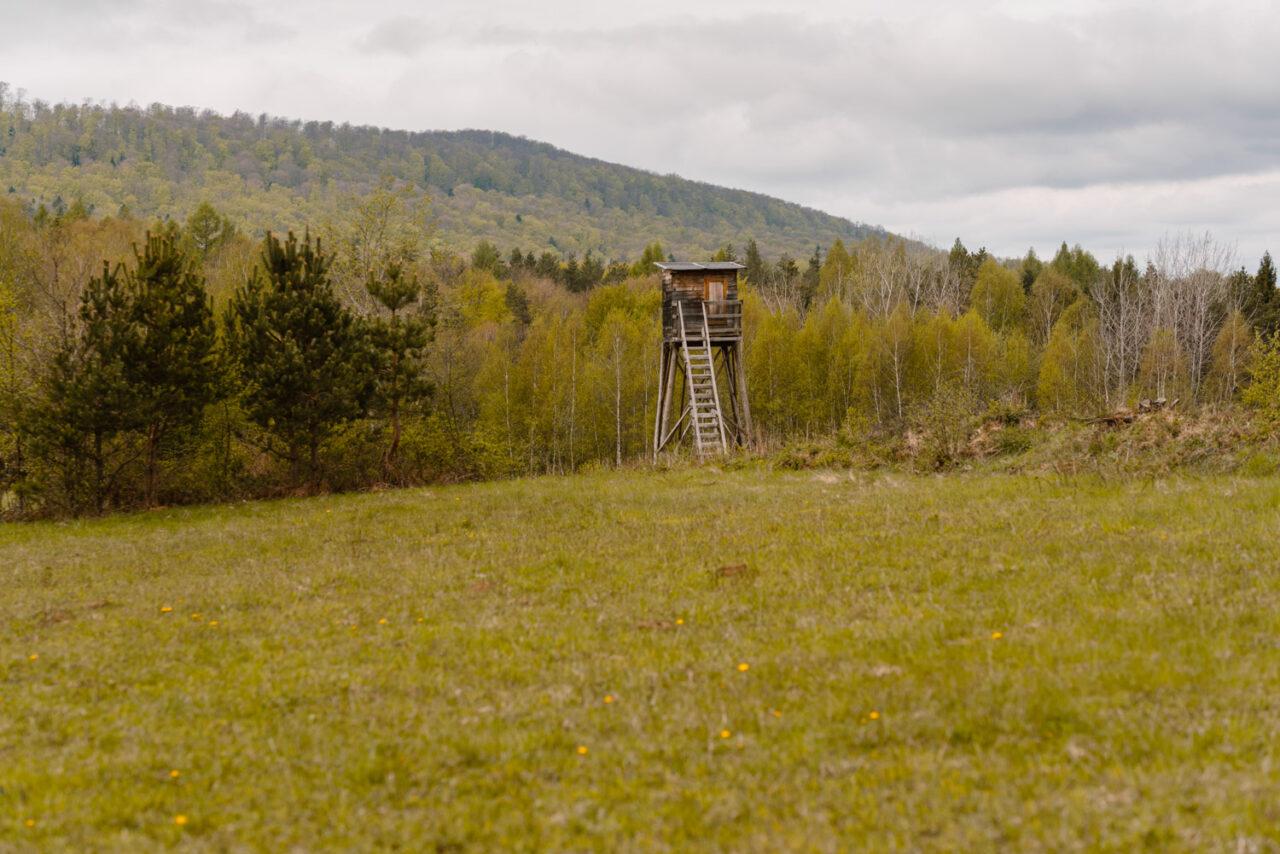 bieszczadzki krajobraz z amboną