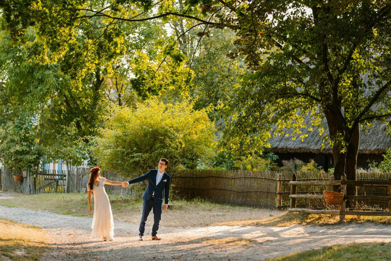 plenerowe rustykalne zdjęcia ślubne