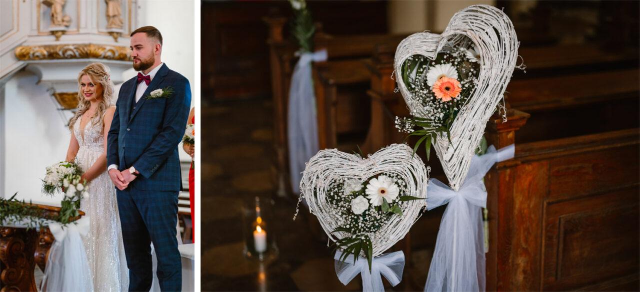 para młoda podczas ślubu w Zamościu