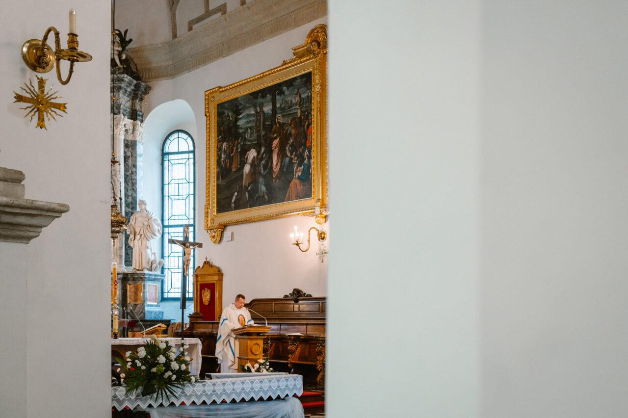 kazanie ślubne w kolegiacie w Zamościu