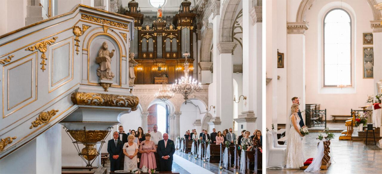 ślub w katedrze w Zamościu
