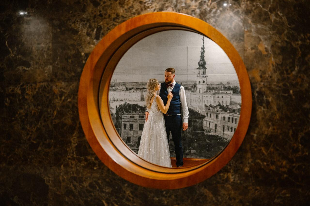 ślub i wesele Zamość - portret pary młodej