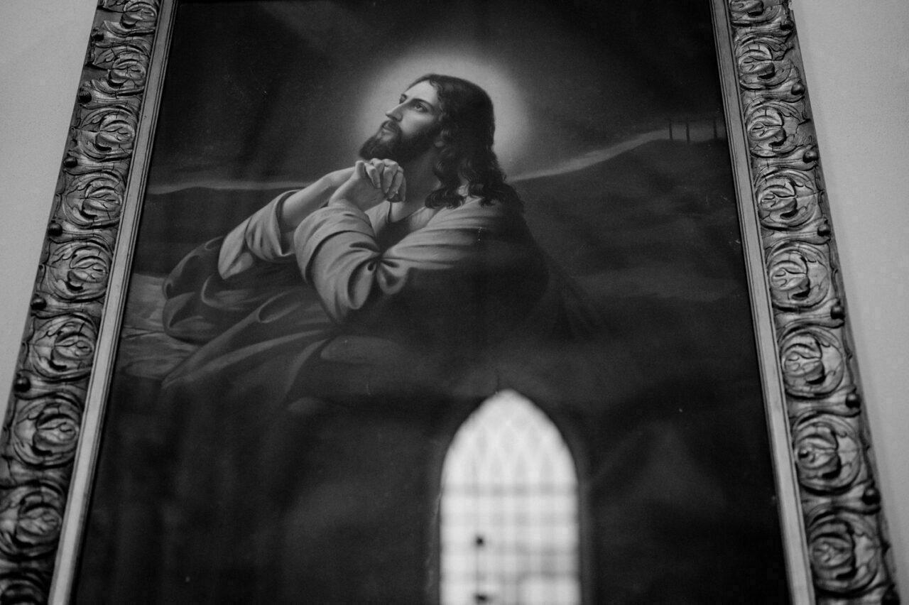 obraz modlącego się Jezusa