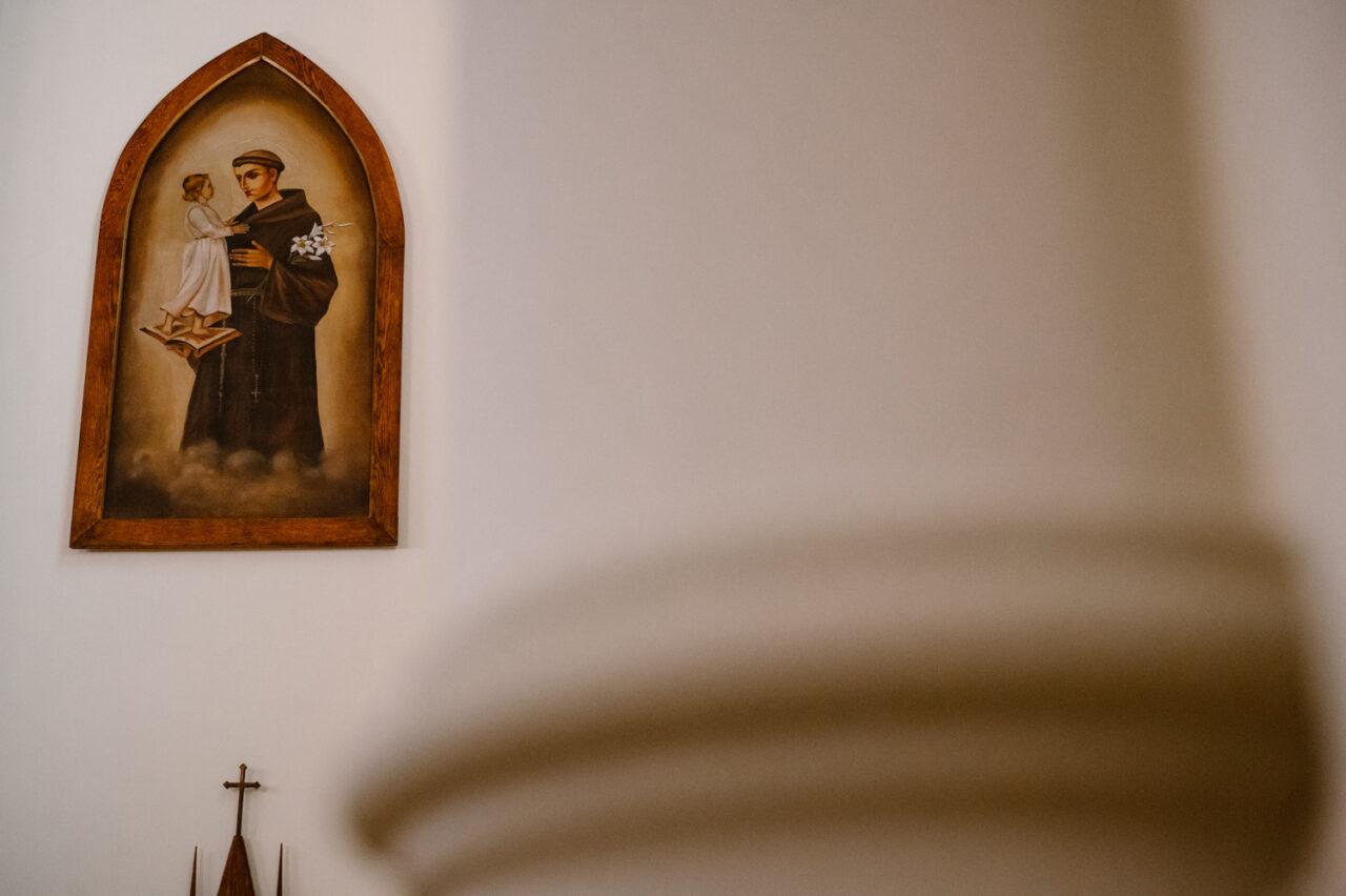 obraz świętego Antoniego z dzieciątkiem Jezus