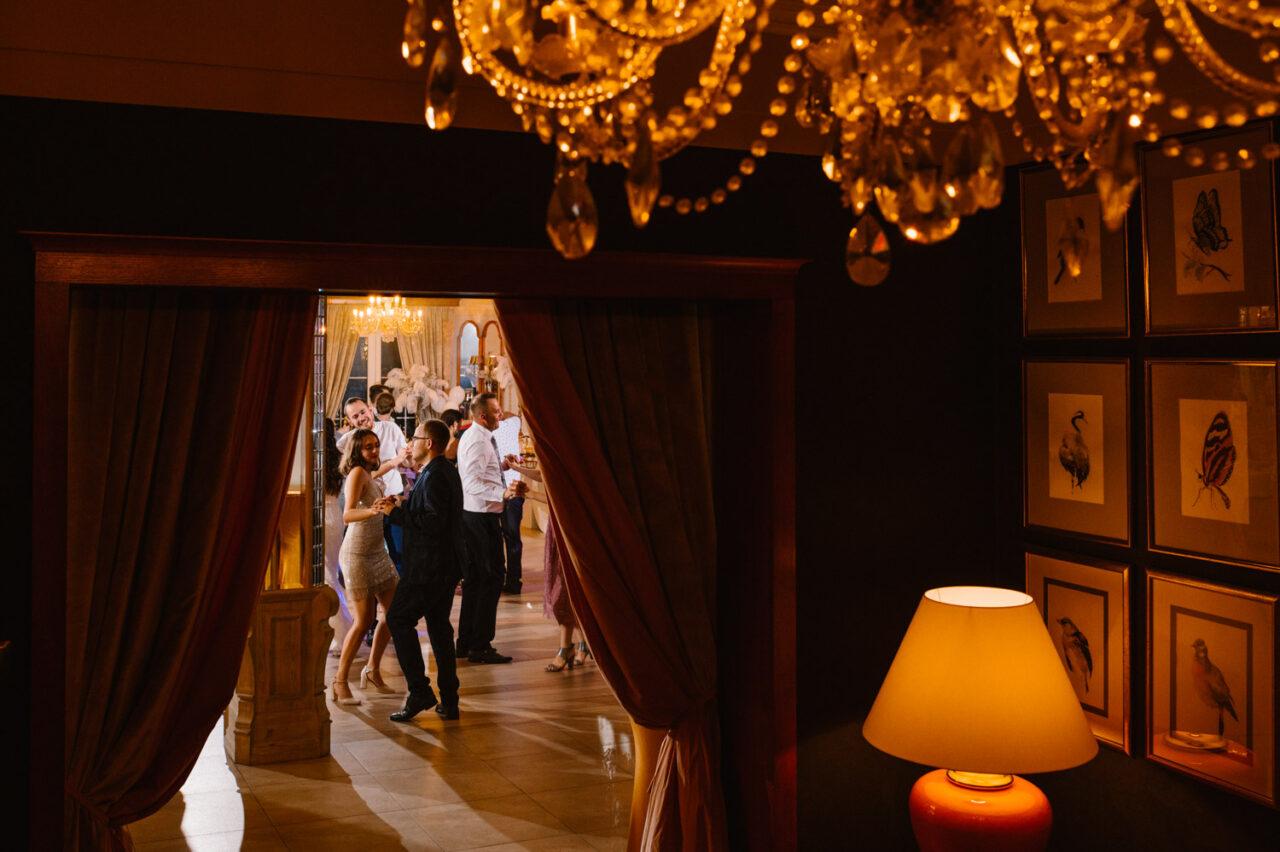 sala kryształowa w hotelu drob podczas wesela